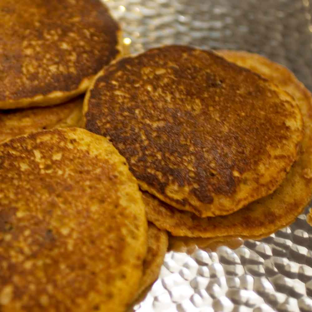 Oatmeal Raisin Pancakes