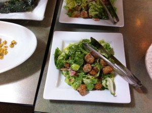 B.L.T. Salad with Buttermilk-Chive Dressing