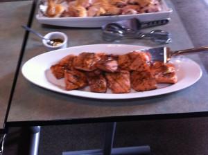 Grilled Salmon with Caraway-Orange Glaze