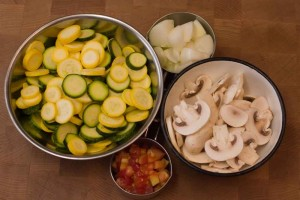 Squash Medley - The Raw Ingredients