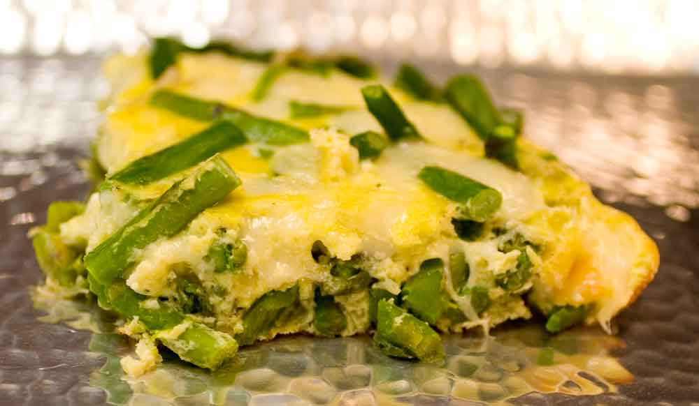 crustless quiche with feta and asparagus mushroom asparagus and swiss ...