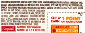 Ingredient List with Food Allergens in Parenthesis