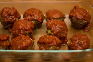 Meat Loaf Muffins With Tomato Sauce