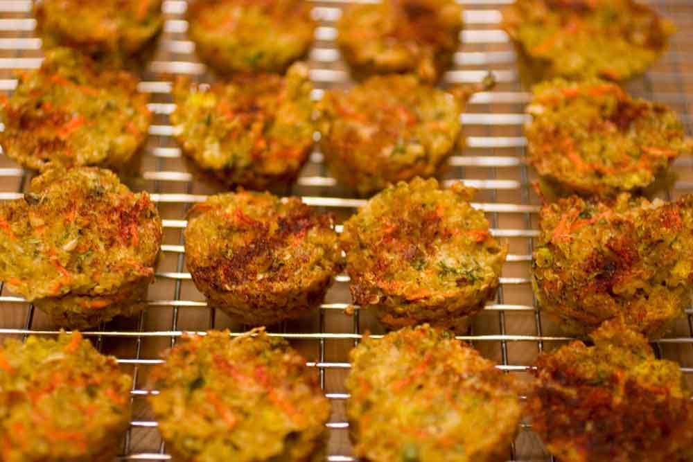 Cheesy Quinoa Mini Muffins