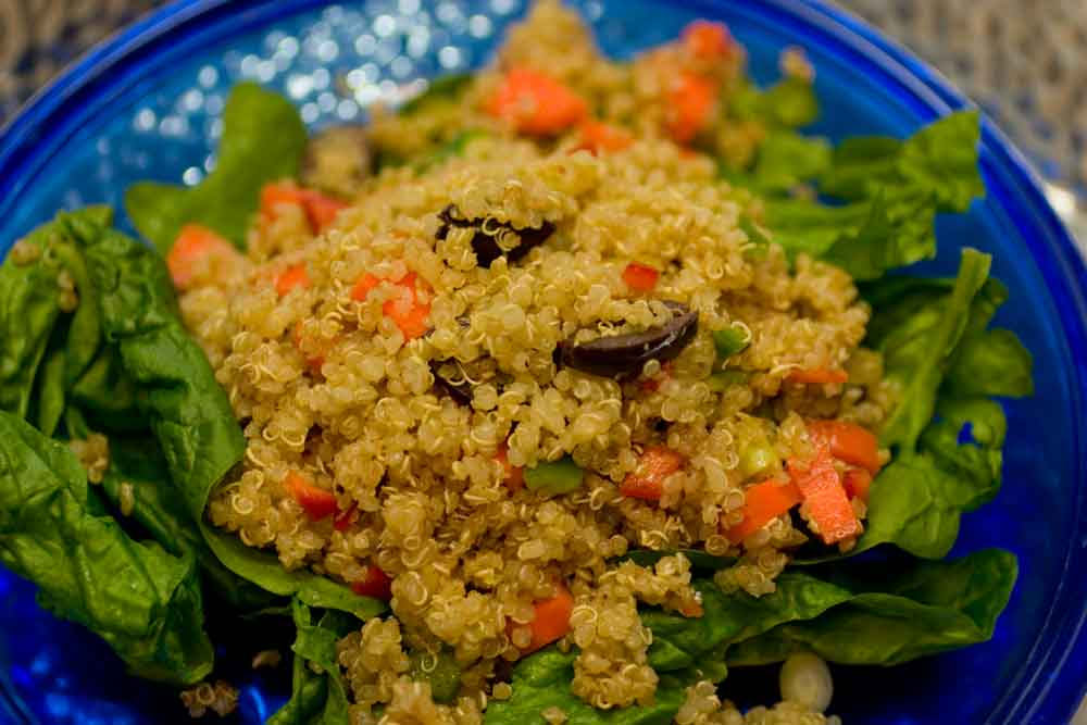 Quinoa A La Greek Salad