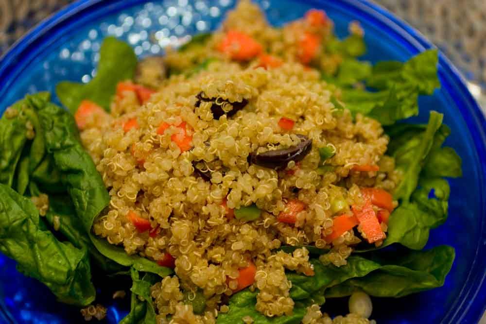 Quinoa A La Greek Salad