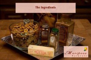 The ingredients for making Hot-n-Spicy Pecans – a little bit of sweet and a whole lot of spicy!