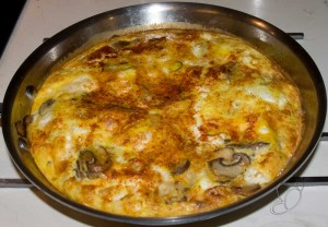 Mushroom & Onion Frittata