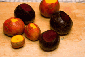 Red Beets And Golden Beets