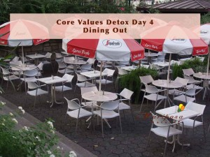 Dining out during Core Values Detox Plus