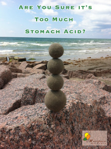 Are you sure it's too much stomach acid? Or perhaps it's not enough?