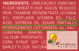 Partially Hydrogenated fats or oils in the ingredient list ALWAYS indicates trans fat.