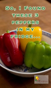 I have these bell peppers in my fridge. What shall I make?