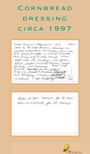 Cornbread Dressing recipe 1997