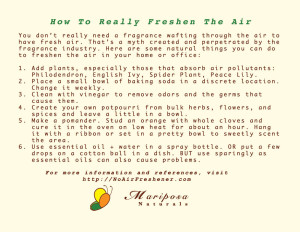 How To Really Freshen the Air